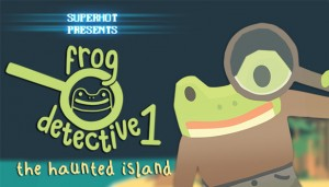 Cover The Haunted Island, a Frog Detective Game